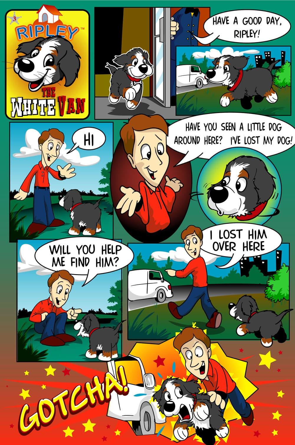 the white van ripley's comic page 1