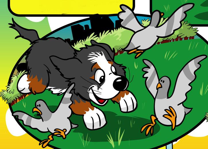 ripley chasing birds